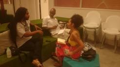Reunião com Thaís Rosa e Negalê Jones no LabSonica
